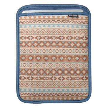 Aztec Themed Aztec Stylized Pattern Blue Cream Terracottas iPad Sleeve