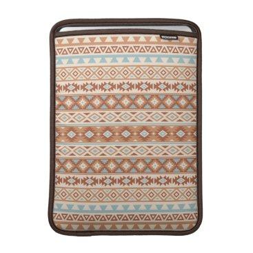Aztec Themed Aztec Stylized Pattern Blue Cream Terracottas MacBook Sleeve