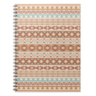 Aztec Themed Aztec Stylized Pattern Blue Cream Terracottas Notebook