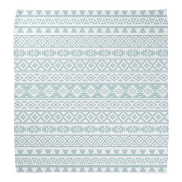 Aztec Themed Aztec Stylized Pattern Duck Egg Blue & White Bandana