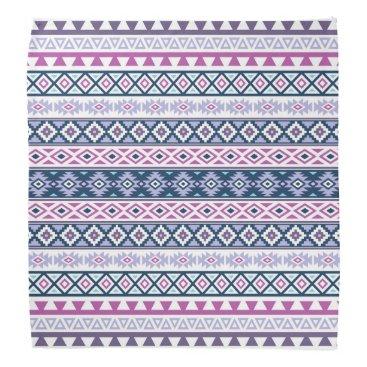 Aztec Themed Aztec Stylized Pattern Pinks Purples Blues White Bandana
