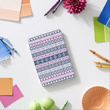 Aztec Themed Aztec Stylized Pattern Pinks Purples Blues White iPad Mini Cover