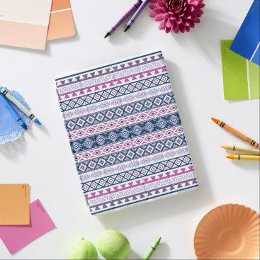 Aztec Themed Aztec Stylized Pattern Pinks Purples Blues White iPad Smart Cover