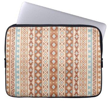 Aztec Themed Aztec Stylized (V) Pattern Blue Cream Terracottas Laptop Sleeve