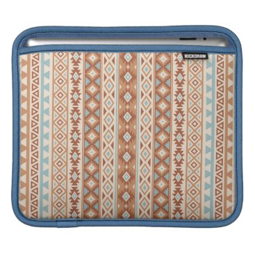 Aztec Themed Aztec Stylized (V) Pattern Blue Cream Terracottas Sleeve For iPads
