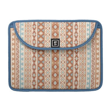 Aztec Themed Aztec Stylized (V) Pattern Blue Cream Terracottas Sleeve For MacBooks
