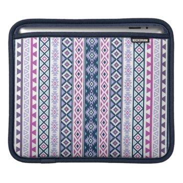 Aztec Themed Aztec Stylized (V) Ptn Pinks Purples Blues White iPad Sleeve