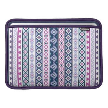 Aztec Themed Aztec Stylized (V) Ptn Pinks Purples Blues White Sleeve For MacBook Air