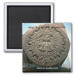 "Aztec ""Sun calendar,"" Mexico City 2 Inch Square Magnet"