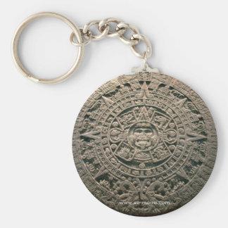 """Aztec """"Sun calendar,"""" Mexico City Keychain"""