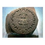 """Aztec """"Sun calendar,"""" Mexico City Postcard"""