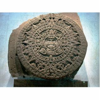 "Aztec ""Sun calendar,"" Mexico City Statuette"