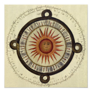 Aztec Sun Card - Invitation 13 Cm X 13 Cm Square Invitation Card