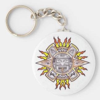 Aztec Sun Key Chain