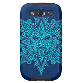 Aztec Sun Mask, Blue Samsung Galaxy SIII Case