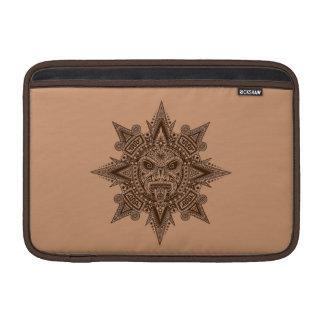 Aztec Sun Mask Brown Sleeves For MacBook Air