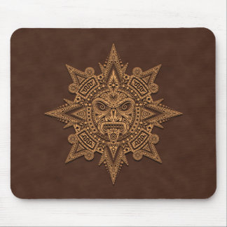Aztec Sun Mask (brown) Mouse Pad
