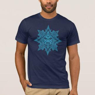 Aztec Sun Mask (dark blue) T-Shirt