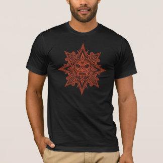Aztec Sun Mask (dark red) T-Shirt