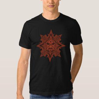 Aztec Sun Mask (dark red) Tee Shirt