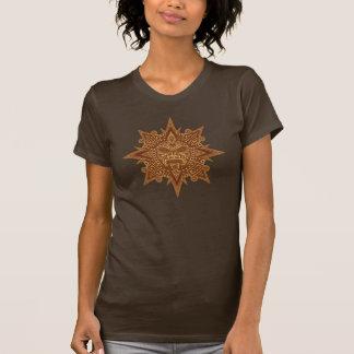 Aztec Sun Mask (golden brown) T-Shirt