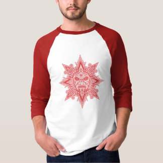 Aztec Sun Mask (red) Tee Shirt