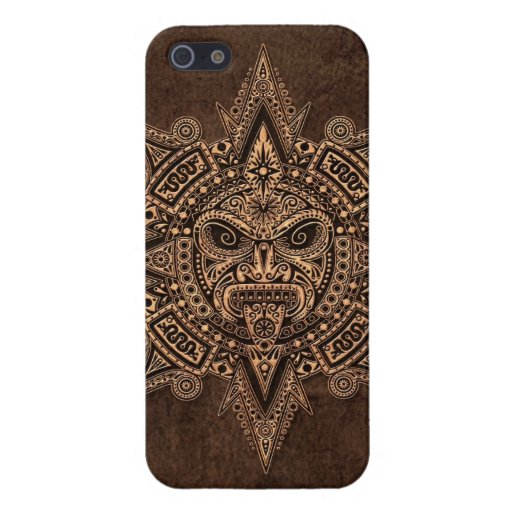 Aztec Sun Mask with Stone Effect Covers For iPhone 5