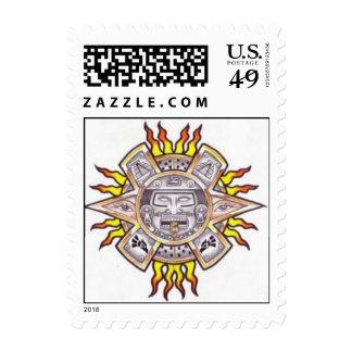 AZTEC SUN POSTAGE STAMP