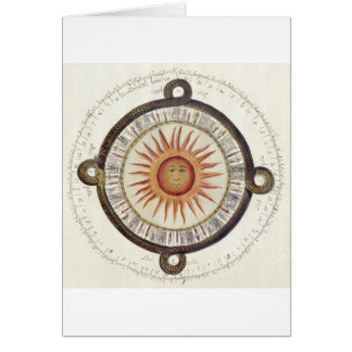 Aztec Sun Stone Greeting Card