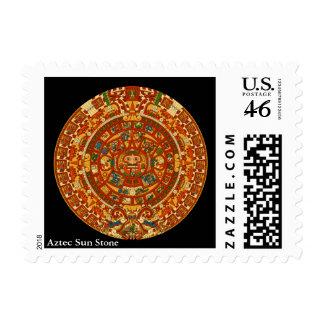 Aztec Sun Stone Stamp