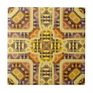 Aztec Sun Small Square Tile