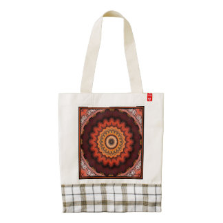 Aztec Sunburst Zazzle HEART Tote Bag