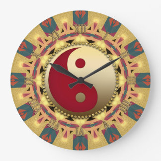 Aztec Sunshine YinYang FengShui Home Decor Clock