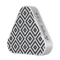 Aztec Symbol Block Pattern Black & White I Bluetooth Speaker