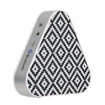 Aztec Symbol Block Pattern Black & White II Speaker