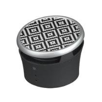 Aztec Symbol Block Ptn Black & White II Bluetooth Speaker