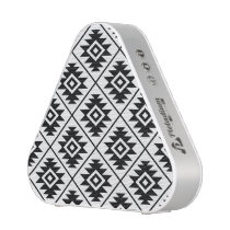 Aztec Symbol Stylized Pattern Black on White Bluetooth Speaker
