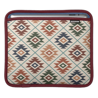 Aztec Symbol Stylized Pattern Color Mix Sleeve For iPads