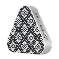 Aztec Symbol Stylized Pattern White on Black Speaker