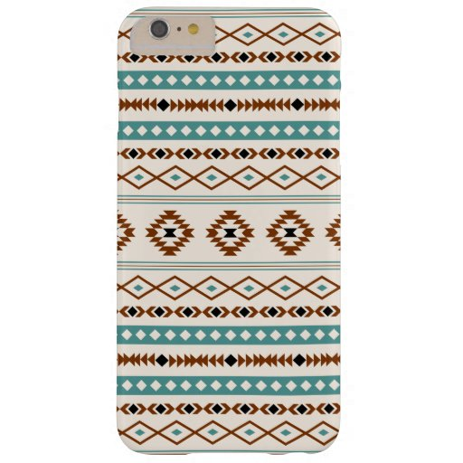 Aztec Teal Terracotta Black Cream Mixed Pattern Barely There iPhone 6 Plus Case