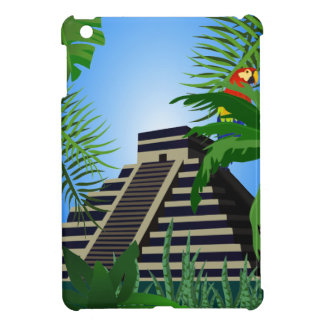 Aztec Temple in Jungle iPad Mini Case