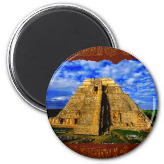 AZTEC TEMPLE MAGNETIC MAGIC Collection 2 Inch Round Magnet