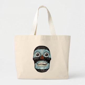 Aztec Tezcatlipoca Mask Canvas Bag