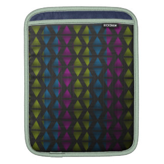 Aztec Triangles Pink Green Blue Sleeves For iPads