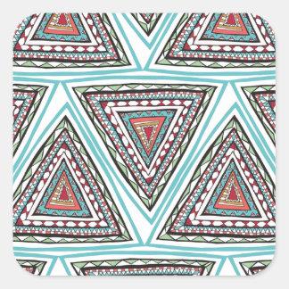 Aztec Triangles Square Sticker