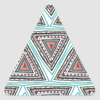 Aztec Triangles Triangle Sticker