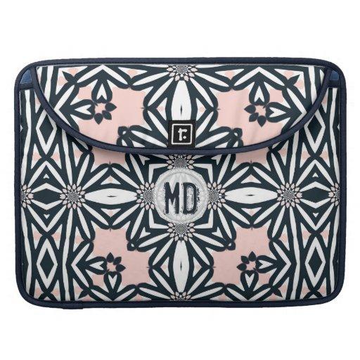 Aztec Tribal Daisy Pattern Laptop Sleeve
