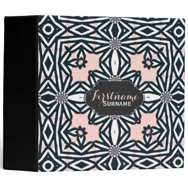 Aztec Themed Aztec Tribal Daisy Photo Album Ring Binder