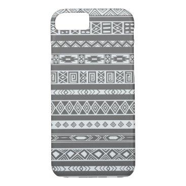 Aztec Themed Aztec Tribal Ethnic Geometric Pattern Dark Grey iPhone 7 Case