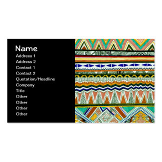 Aztec Tribal Fine Abstract Nature Print Business Card